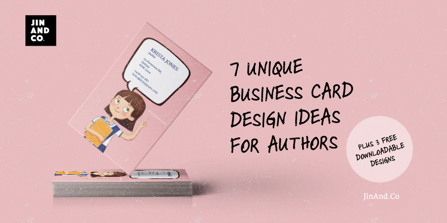 7 Unique business card design ideas for authors plus 3 free